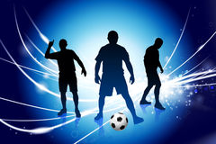 Soccer Player on Abstract Modern Light Background Royalty Free Stock Photo