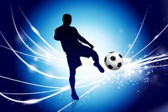 Soccer Player on Abstract Modern Light Background Royalty Free Stock Image