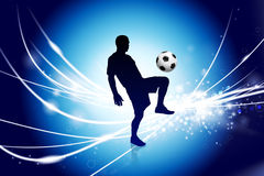 Soccer Player on Abstract Modern Light Background Stock Photography