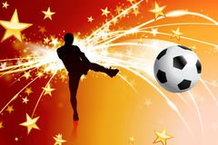 Soccer Player on Abstract Modern Light Background Stock Photos