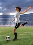 Soccer Player in Action Royalty Free Stock Photos