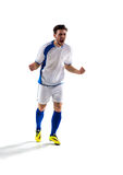 Soccer player in action. Football soccer player in action   on white background Stock Image
