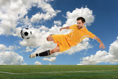 Soccer Player in Action Royalty Free Stock Images