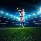 Soccer player in action panorama Stock Image