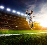 Soccer player in action panorama Royalty Free Stock Photos