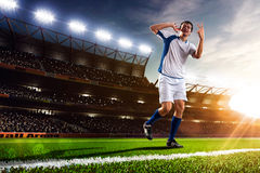 Soccer player in action panorama Stock Photography