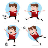 Soccer Player in Actions Royalty Free Stock Images