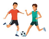 Soccer player and athlete. Ball vector illustration graphic design royalty free illustration