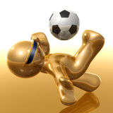 Soccer player with back kick icon Royalty Free Stock Photo