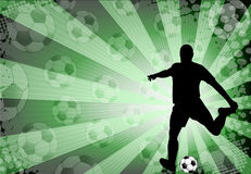 Soccer player-background Stock Photos