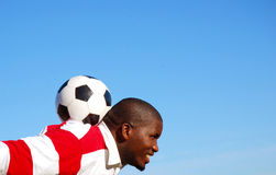 Soccer player with ball Royalty Free Stock Photos