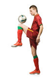 Soccer player with ball Stock Images