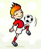 Soccer player with ball. Vector illustration  of a soccer player with ball Stock Photos