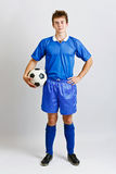 Soccer player with ball Stock Photography