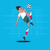 Soccer. Player with a ball Stock Image
