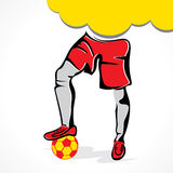 Soccer player with ball concept Stock Image