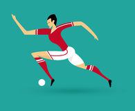 Soccer player. And ball vector illustration Royalty Free Illustration