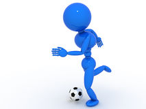 Soccer player with ball  #2 Stock Image