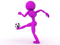 Soccer player with ball  #3 Stock Images