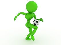 Soccer player with ball  #4 Royalty Free Stock Image