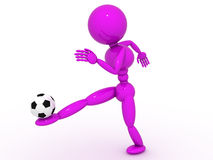 Soccer player with ball  #5 Royalty Free Stock Photos