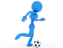 Soccer player with ball  #6 Stock Image