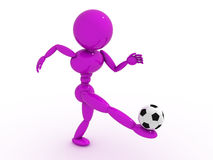 Soccer player with ball  #7 Royalty Free Stock Images