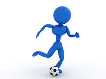 Soccer player with ball  #8 Stock Photo