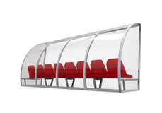 Soccer Player Bench Stock Images