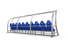 Soccer Player Bench Royalty Free Stock Image