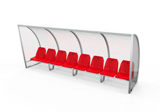 Soccer Player Bench Stock Photography