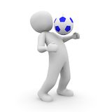 Soccer player blue Royalty Free Stock Images