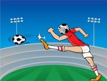 Soccer player cartoon Royalty Free Stock Photo