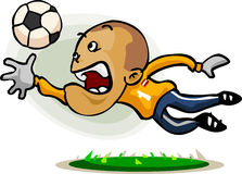 Soccer Player Cartoon Stock Image