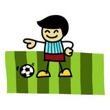 Soccer player cartoon . Stock Photo