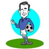 Soccer player cartoon Stock Photo