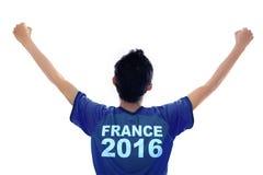 Soccer player celebrating Euro 2016 Royalty Free Stock Photo