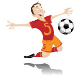 Soccer Player Celebrating Goal. Stock Photo