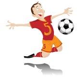 Soccer Player Celebrating Goal. Soccer Player Celebrating Goal with Ball Stock Photo