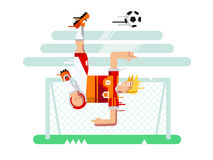 Soccer player character Royalty Free Stock Image