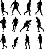 Soccer player collection silhouette  Royalty Free Stock Photography