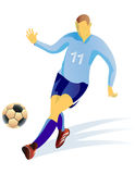 Soccer player detailed in attack. Royalty Free Stock Photography