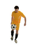 Soccer Player Dribbling Stock Images