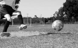 Soccer player on field Stock Images