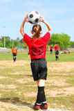 Soccer player on field Royalty Free Stock Photos