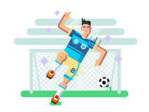 Soccer player flat design Stock Photography