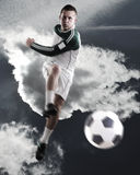 A soccer player, football Royalty Free Stock Photo