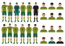 Soccer player, football team stock illustration