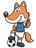 Soccer player fox Stock Images