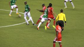 Soccer Player Gets Yellow Card